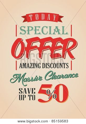 Sale Poster Typography Vector Design