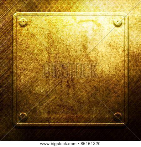 Golden metal texture for design