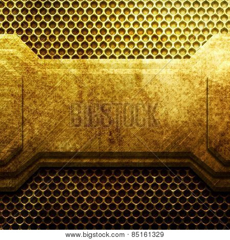 Golden metal texture for design