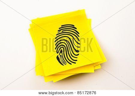 Fingerprint against sticky note