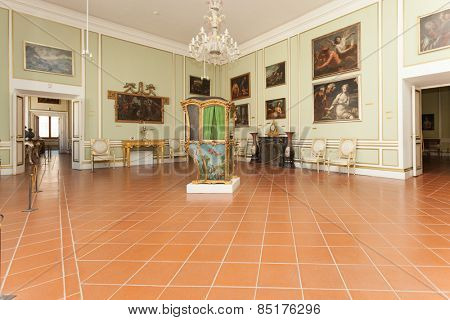 DUBROVNIK, CROATIA - MAY 27, 2014: Exhibition in the Rector's palace museum. The majority of the halls have styled furniture so as to recreate the original atmosphere of these rooms.