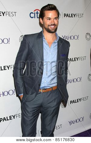 LOS ANGELES - MAR 8:  Andrew Rannells at the PaleyFEST LA 2015 -