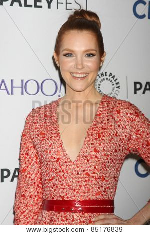 LOS ANGELES - MAR 8:  Darby Stanchfield at the PaleyFEST LA 2015 -