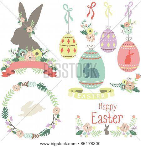 Easter Spring Elements