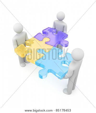 Partnership. Merge metaphor