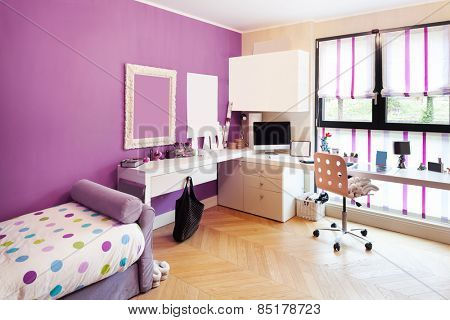 Architecture, interior of apartment furnished, nice bedroom