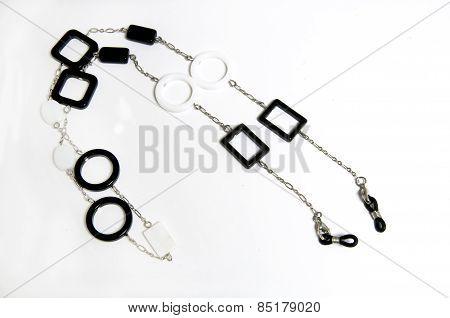 Black And White Holder For Eyewear