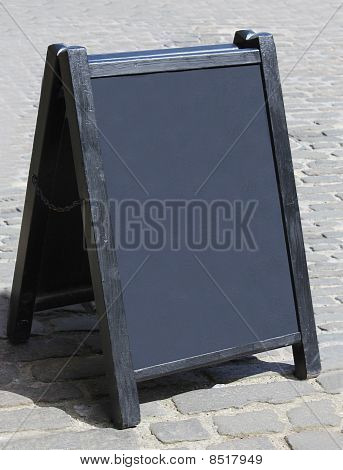 blank traditional notice board