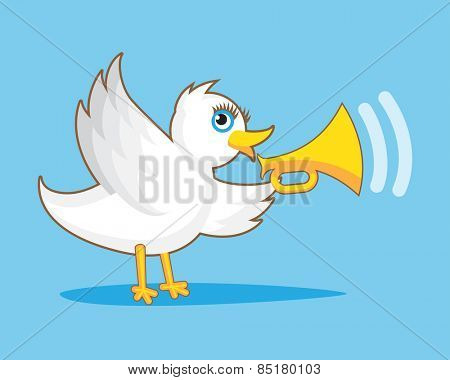 White Bird with Horn