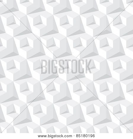 abstract cube grey seamless pattern