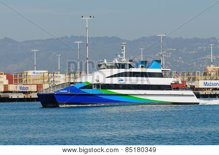 Alameda, CA - March 9, 2015: Oakland  San Francisco Bay Ferry