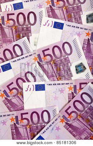 Background of 500 Euro bills