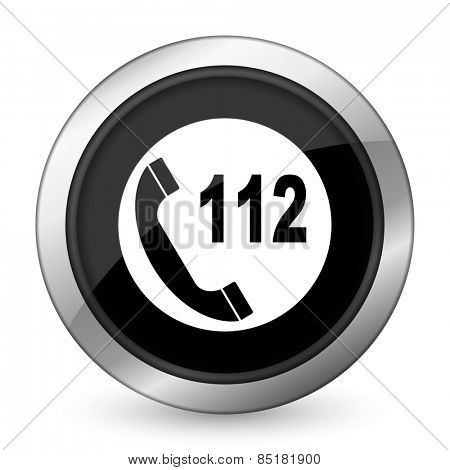 emergency call black icon 112 call sign