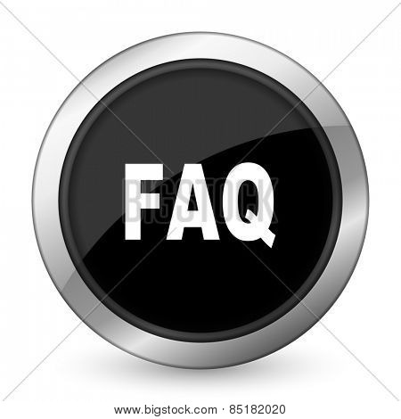 faq black icon