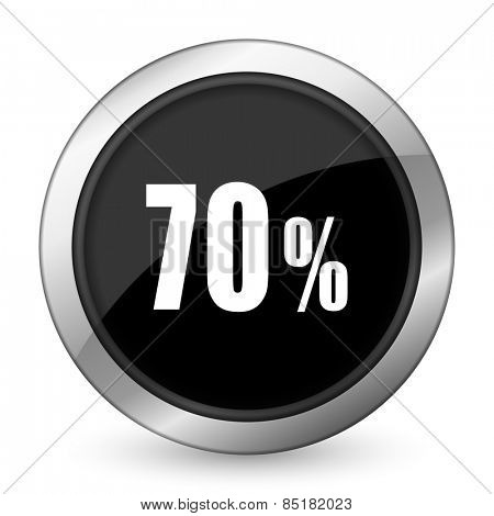 70 percent black icon sale sign