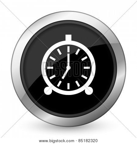 alarm black icon alarm clock sign