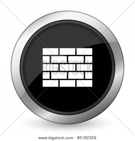 firewall black icon brick wall sign