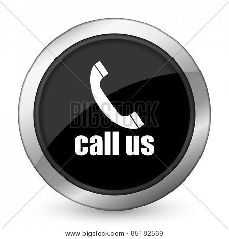 call us black icon phone sign
