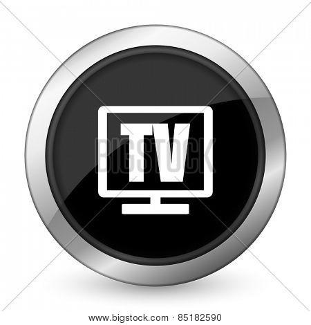 tv black icon television sign