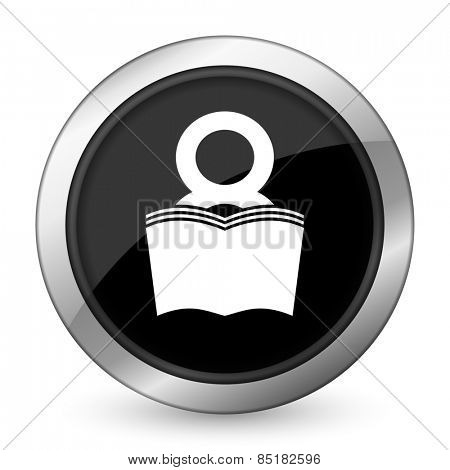 book black icon reading room sign bookshop symbol