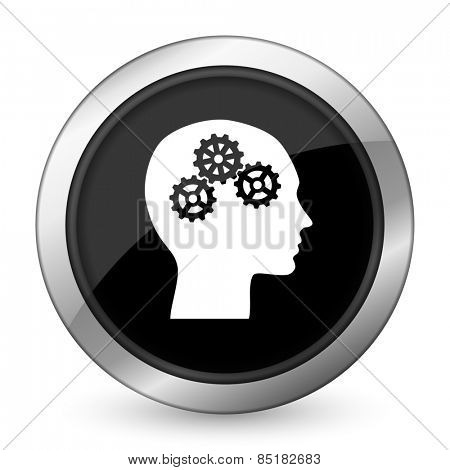 head black icon human head sign