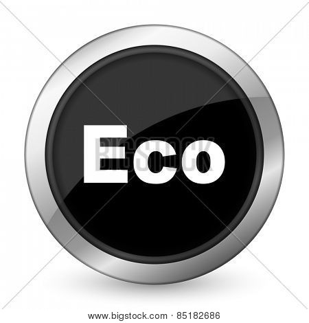 eco black icon ecological sign