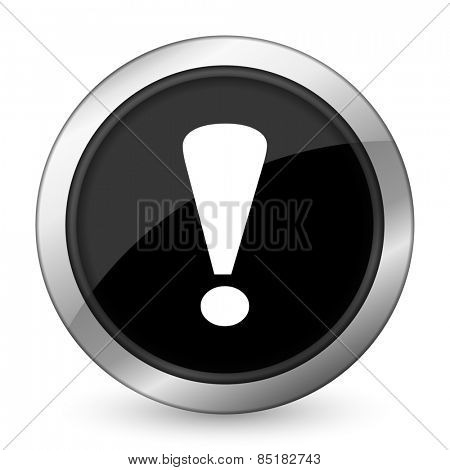 exclamation sign black icon warning sign