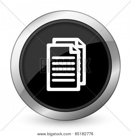 document black icon pages sign