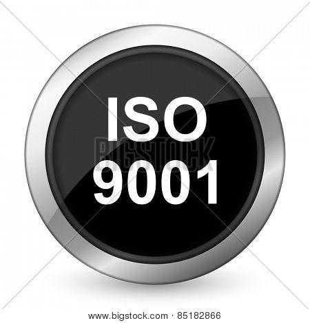 iso 9001 black icon