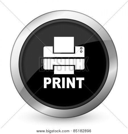 printer black icon print sign