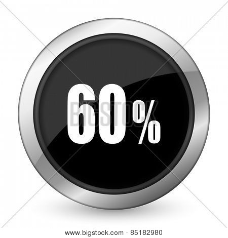 60 percent black icon sale sign
