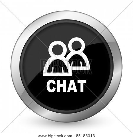 chat black icon