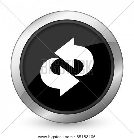 rotation black icon refresh sign