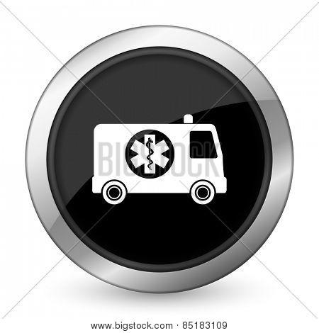 ambulance black icon