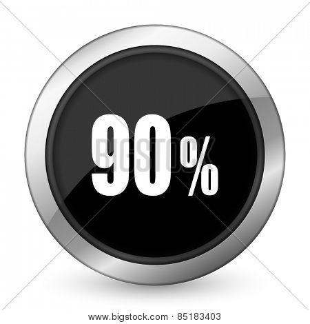 90 percent black icon sale sign
