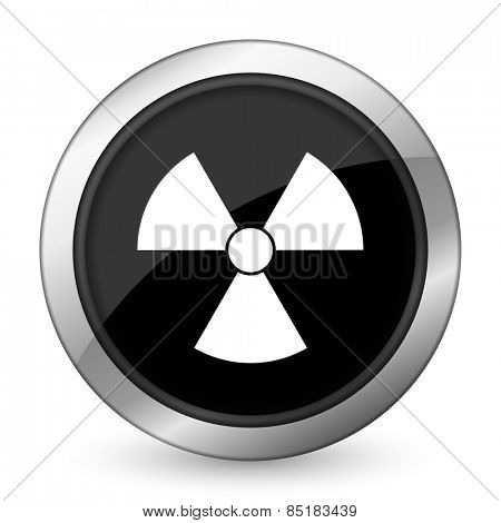 radiation black icon atom sign