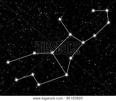 constellation Virgo against the starry sky