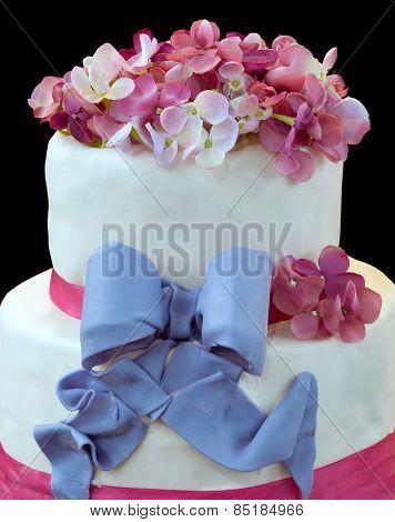 Wedding Cake Isolated on Dark Background