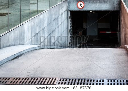 entrance to the underground car park