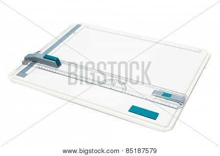drawing board on a white background