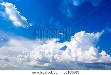 sky background with a tiny clouds