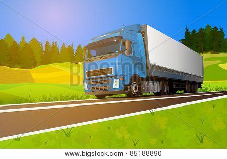 Truck cargo transportation. EPS 10 format.