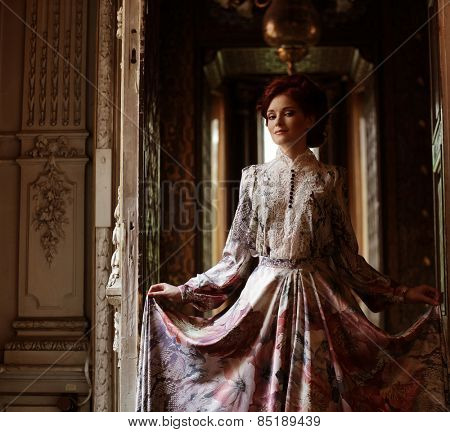 Romantic portrait of young beautiful lady