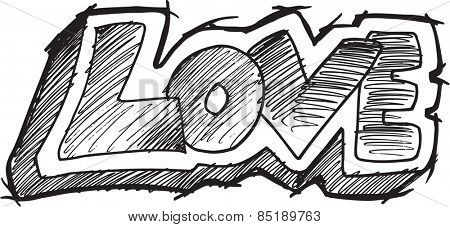 Doodle Sketch Love Illustration Art