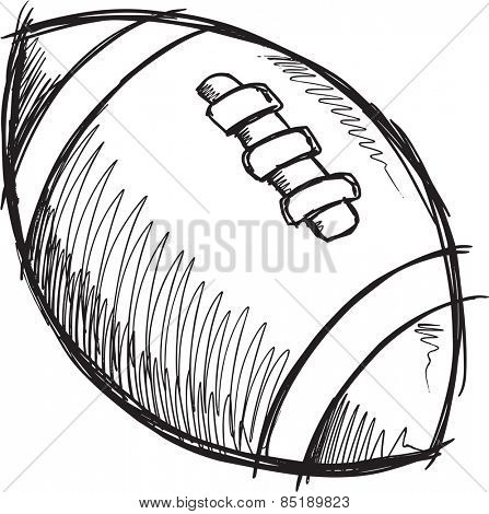 Doodle Sketch Football Vector Illustration Art