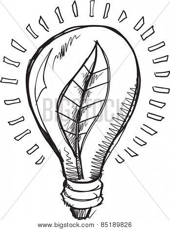 Doodle Sketch Light Blub Vector Illustration Art