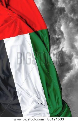UAE waving flag on a bad day