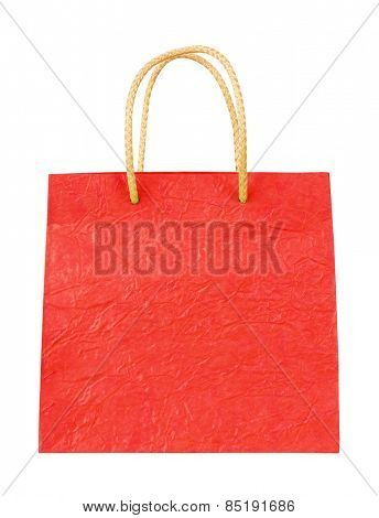 Red Bag isolated on white background