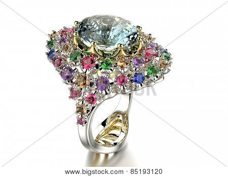 Ring with different Diamond. Jewelry background
