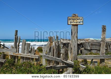 Beach. Picturesque view of the Mediterranean Sea, Sardinia (west coast), Italy. Travel. Vacation.